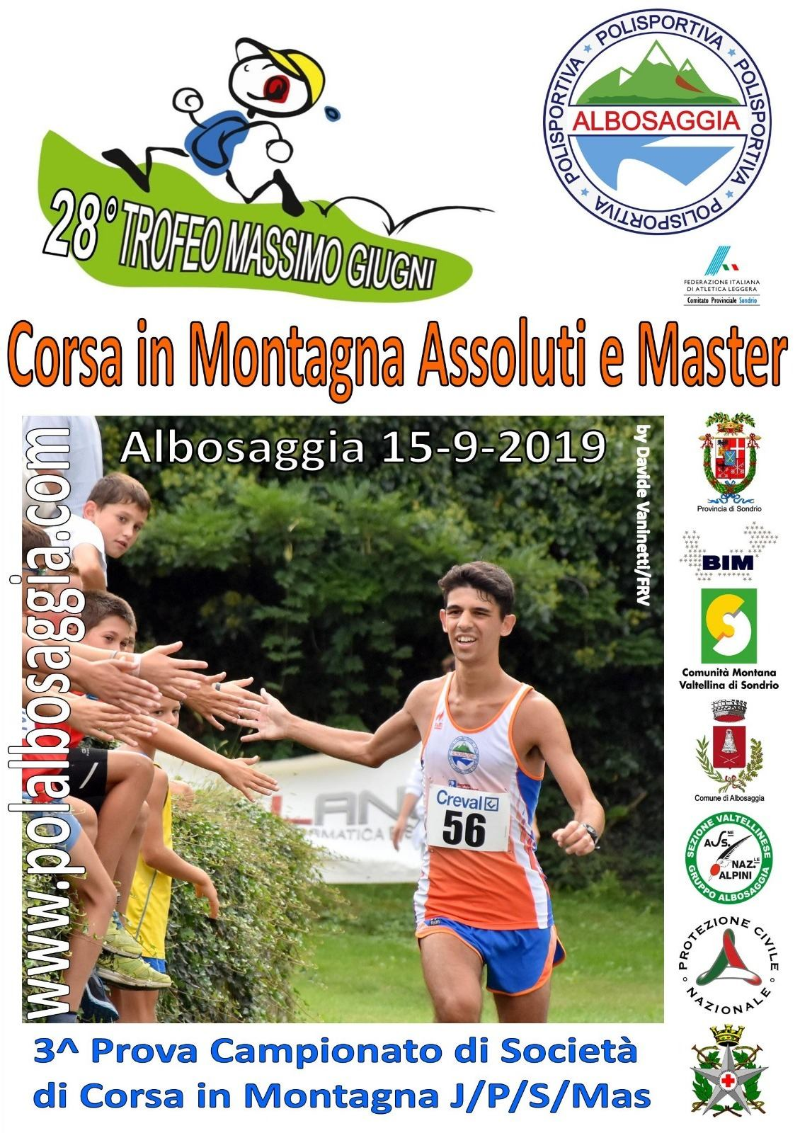 Fidal Lombardia Calendario.28 Trofeo Giugni Fidal Sondrio
